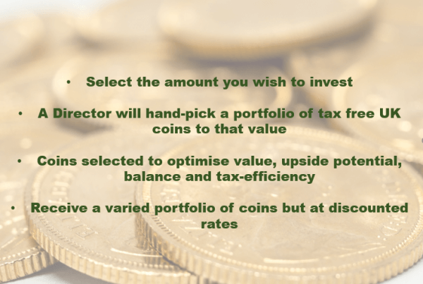 Why not choose our Directors Pick for great value gold investments?
