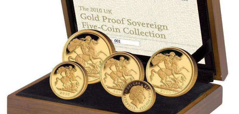 Gold sovereigns can be bought in proof sets, these are published each year