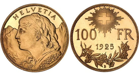 The Swiss Vreneli is only minted in gold.
