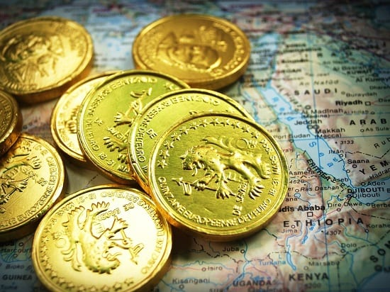 Gold Coins on Map