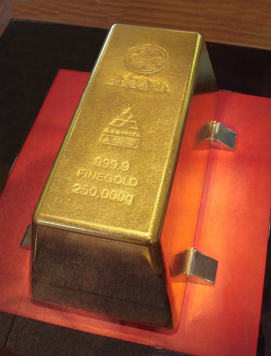 This 250kg gold bar could well be one of the largest in the world