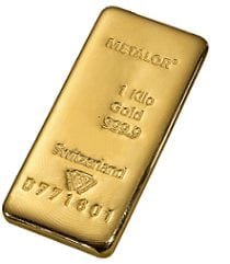Buy a 1kg Metalor gold bar from Physical Gold Limited