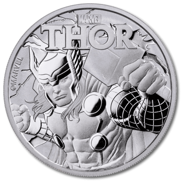 Certain silver coins like this 1 oz Marvel's Thor Silver Coin 2018 are highly collectable
