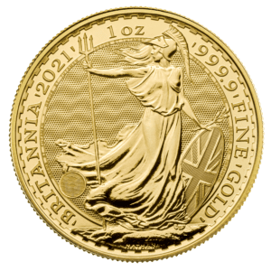 Purchase Gold such as this Britannia coin from Physical Gold Limited